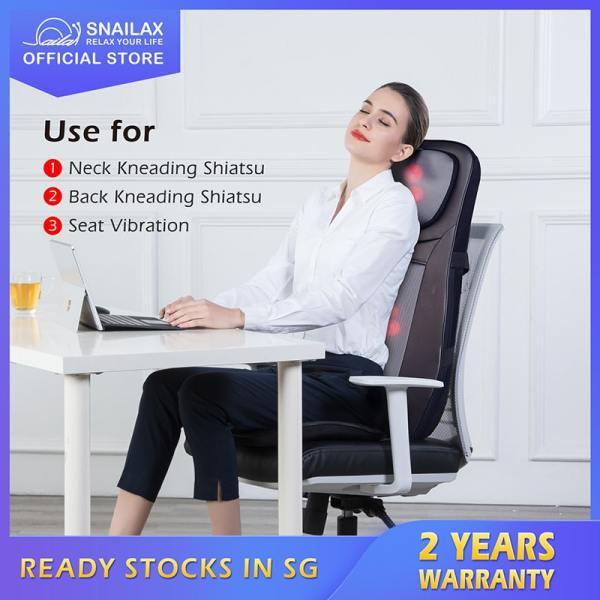 Buy Snailax SL-233 Massager Body with Shiatsu Kneading Rolling Rotating Vibrating Spot Massager for Neck Back Lumbar, 2 Yrs Warranty Singapore