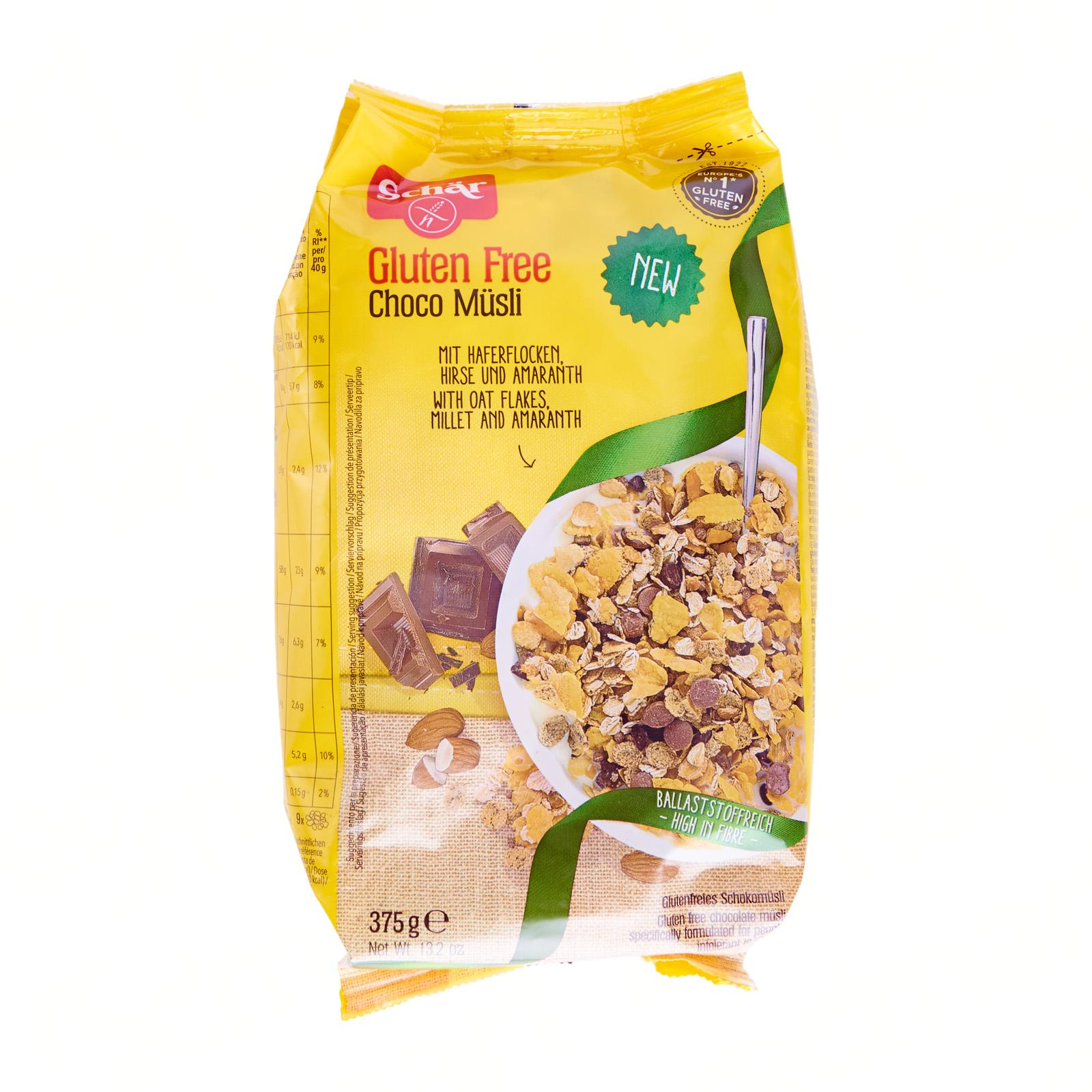 Dr. Schar Chocolate Muesli Gluten Free - By Agora Products