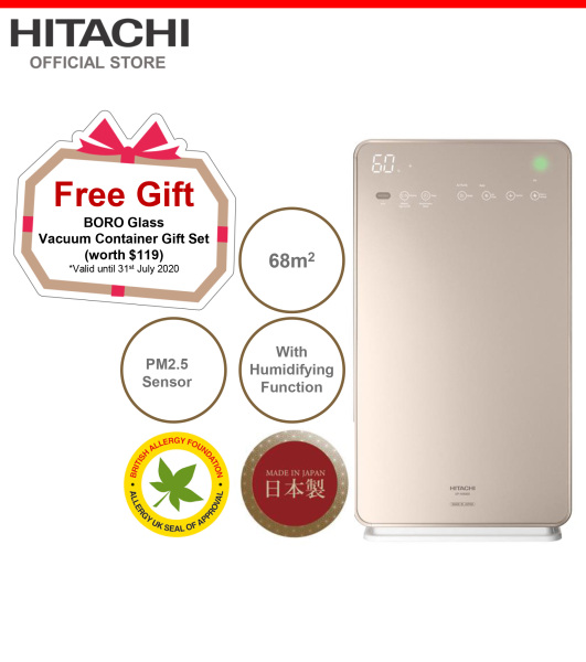 Made In Japan, Hitachi Air Purifier & Humidifier w/ Skin Moisturizing, PM2.5 Sensor, 68 metre square, EP-A9000 Singapore