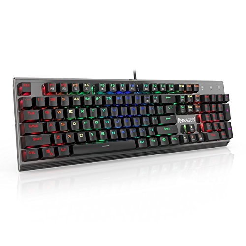 Redragon K570 PARTRYUSA RGB Backlit Mechanical Gaming Keyboard, Blue Switch, Gunmetal Solid Aluminum Base Singapore