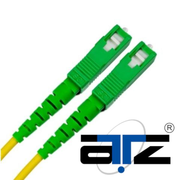 OpenNet SC/APC - SC/APC 5m SINGLEMODE Fiber Optic Patch Cord SIMPLEX 9/125 3mm LSZH Fibre Cable (5M)