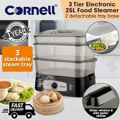 Cornell 3 Tier Electric Food Steamer 25l Capacity Cfs-El20l By Cornell Singapore.