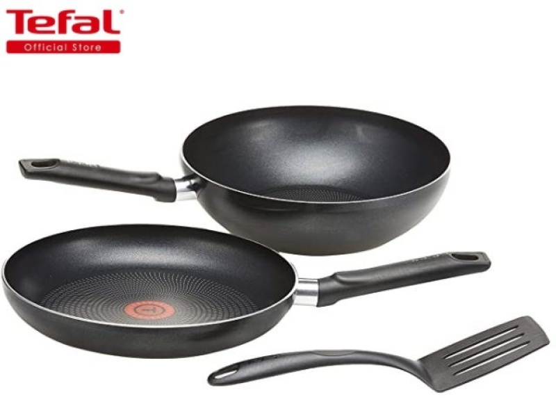 Tefal Pro 3pc Set (Includes Frypan, 26cm and Wokpan, 26cm and Spatula) (Free Delivery) Singapore