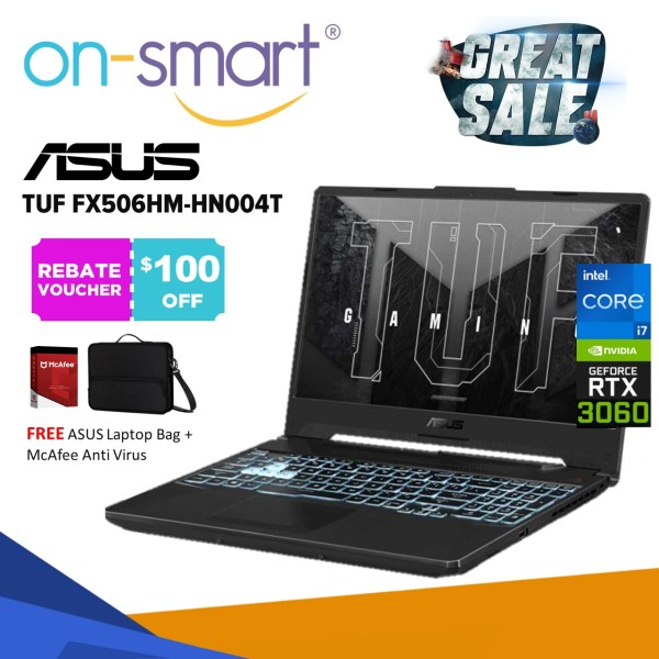 【Next Day Delivery】ASUS TUF FX506HM-HN004T | Intel Core i7-11800H | 16GB RAM | 512GB SSD | NVIDIA GeForce RTX3060 | 2 Years Warranty | New Gaming Laptop Computer