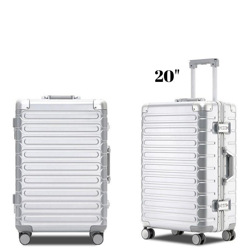 2019 New Aluminium Alloy Frame Travel Luggage case / Cabin Size Suitcase Trolley Bag /20 inch