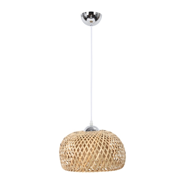 Bảng giá Vintage Woven Pendant Lamp Natural Bamboo Rattan Chandelier Handmade Garden Hanging Lampshade E27 Adjustable Height Hanging Lamps Restaurant Tea Room Bedroom Living Room Cafe, 30cm