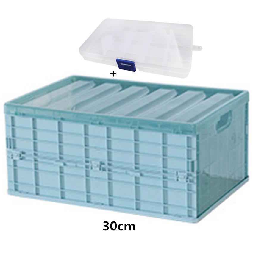 1PCS Foldable Multi-function Desktop Storage Plastic Box Kitchen Bathroom Storage Basket Home Storage Organization