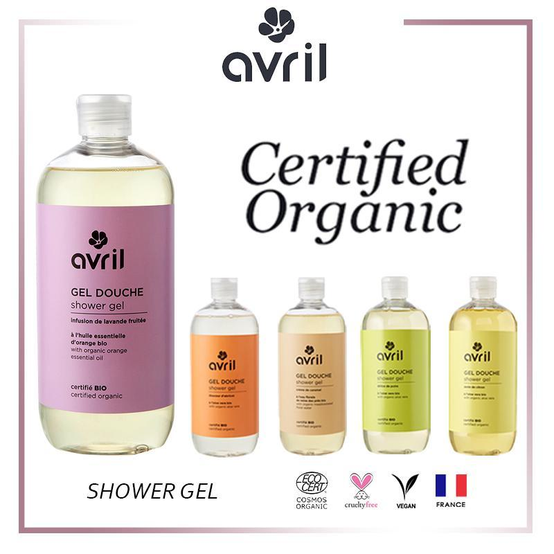 Buy Avril Organic VEGAN Shower Gel {Silky texture & soft for your skin} 500ml - 3 Scents Singapore
