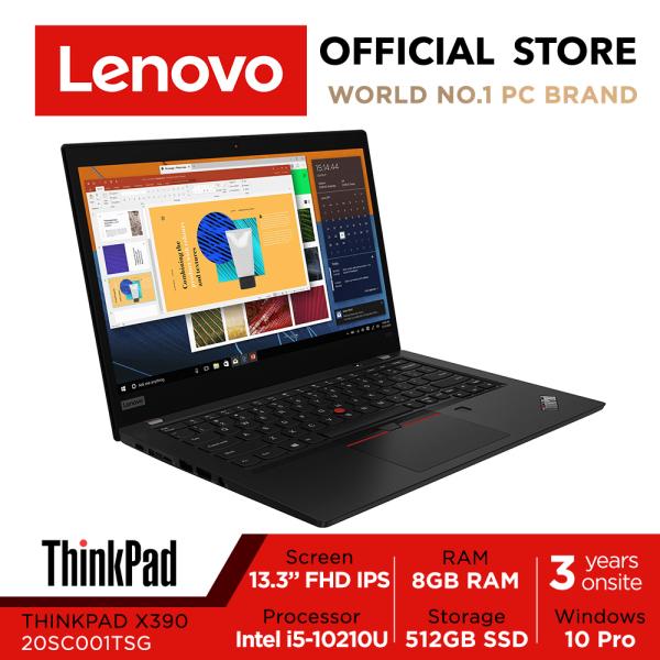 Lenovo ThinkPad X390 | 20SC001TSG | 13inch FHD IPS | i5-10210U | 8GB RAM | 512GB SSD | Win10Pro | 3Yrs Premier warranty