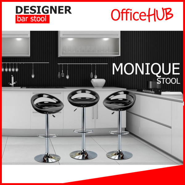 Highback Monique Barstool Bar-02 ★ Designer dining stool  ★ 60-80cm Bar Chair ★ Pub and restaurant ★ High Chair ★ Many Colours