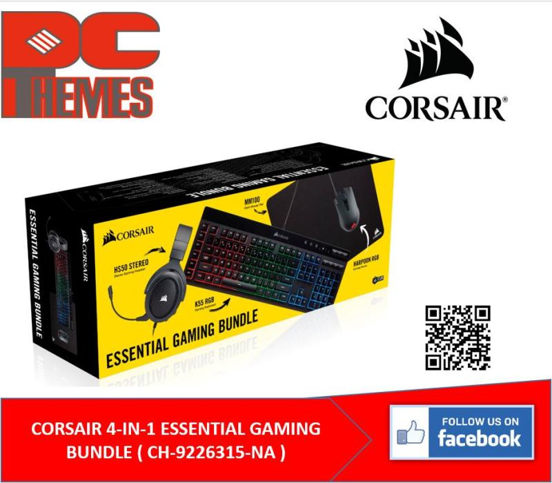 CORSAIR 4-IN-1 ESSENTIAL GAMING BUNDLE ( CH-9226315-NA ) Singapore