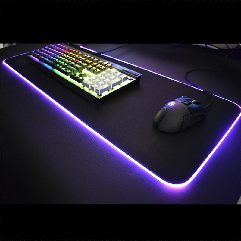 Seam Shining Mouse Pad Large Colorful RGB Computer Desk Pad Large Size Men And Women Household ACE LEAGUE OF LEGENDS