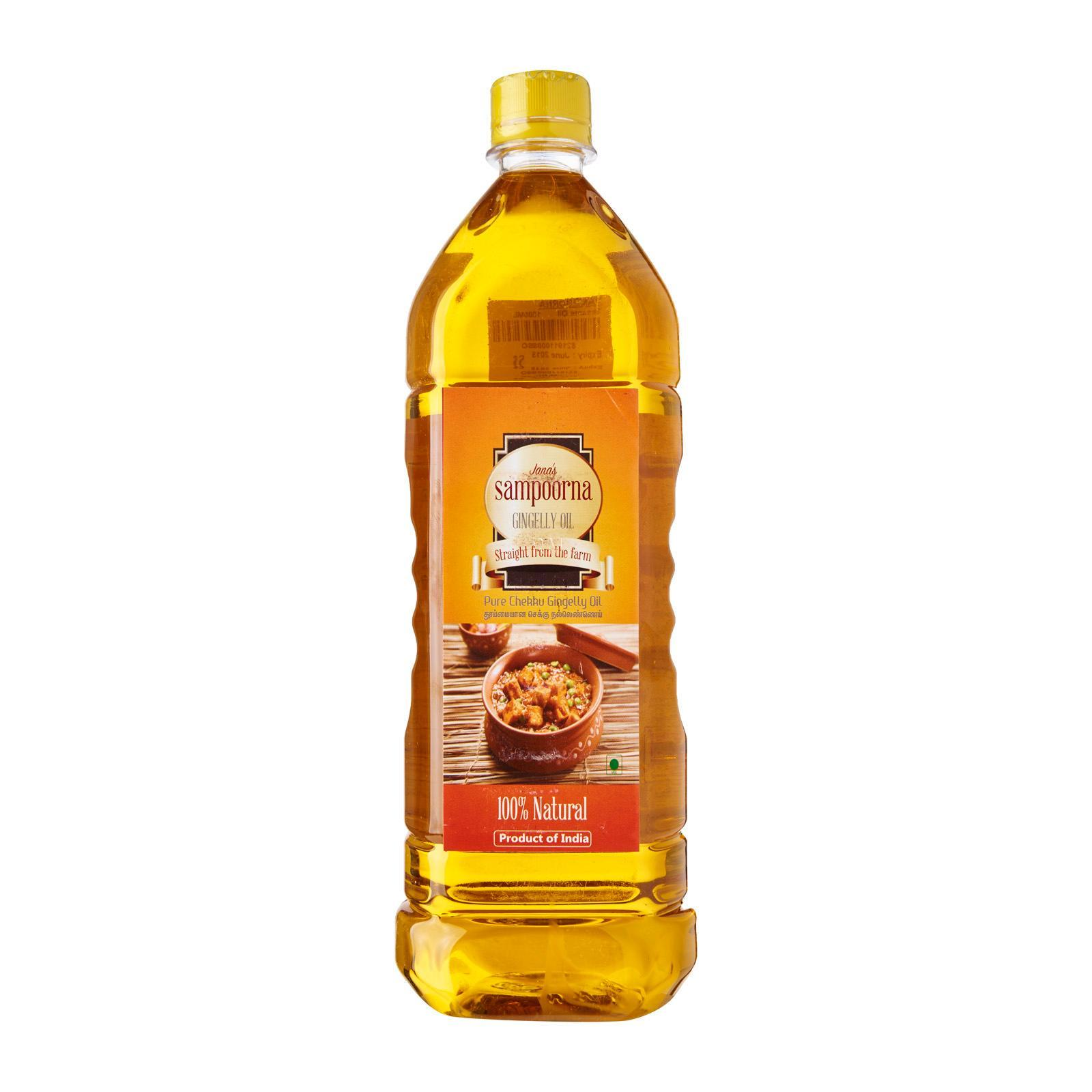 Sampoorna Chekku / Metal Pressed Sesame Oil By Redmart.