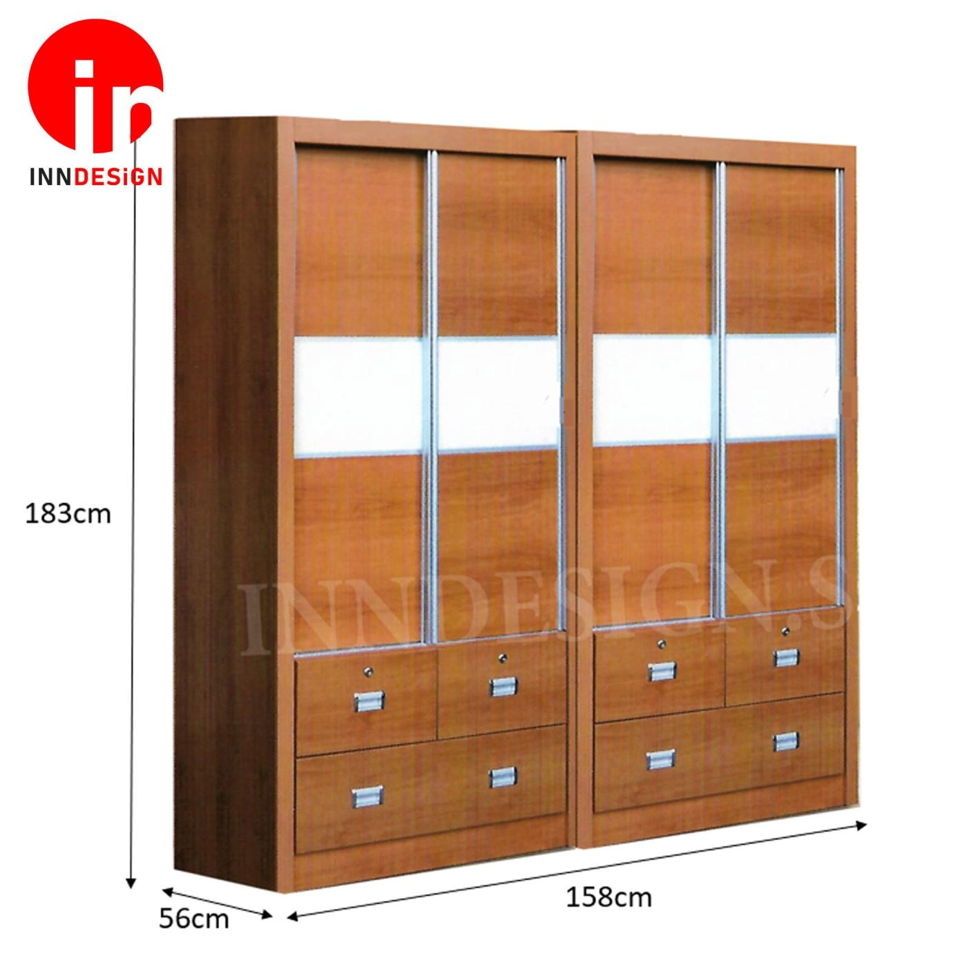 Maris Sliding Wardrobe / 2 Sets Bundle Sale (Free Delivery and Installation)