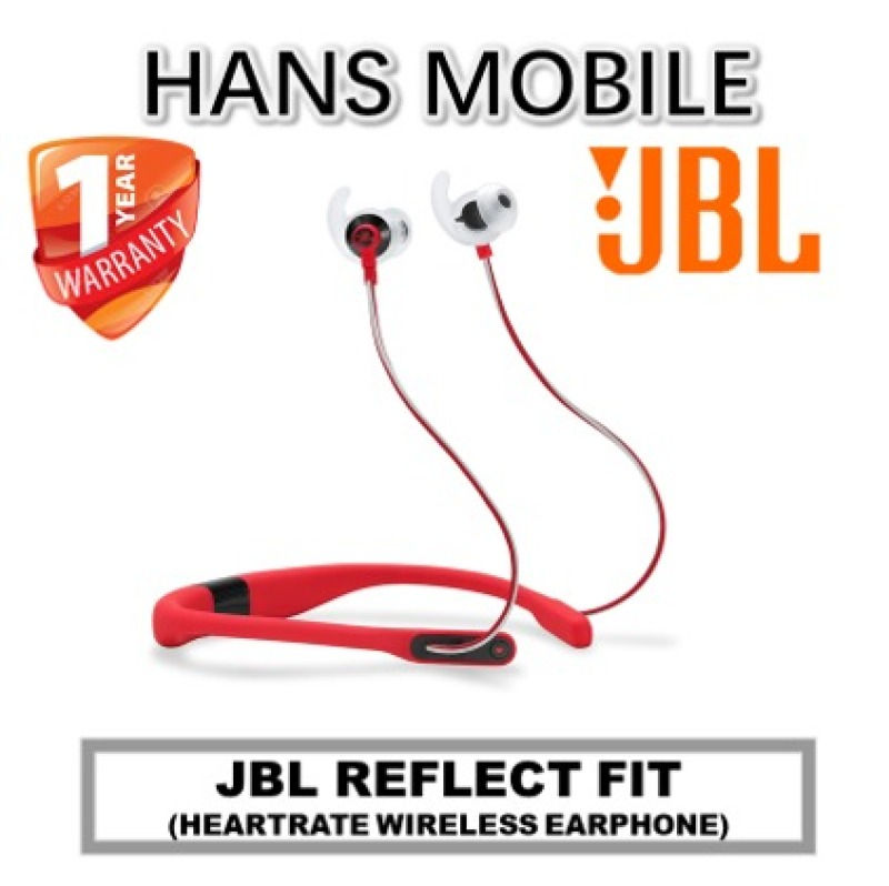 JBL REFLECT FIT (HEART RATE WIRELESS EARPHONE) - HANS MOBILE - BLUE/RED/ORANGE - 1 YEAR WARRANTY Singapore