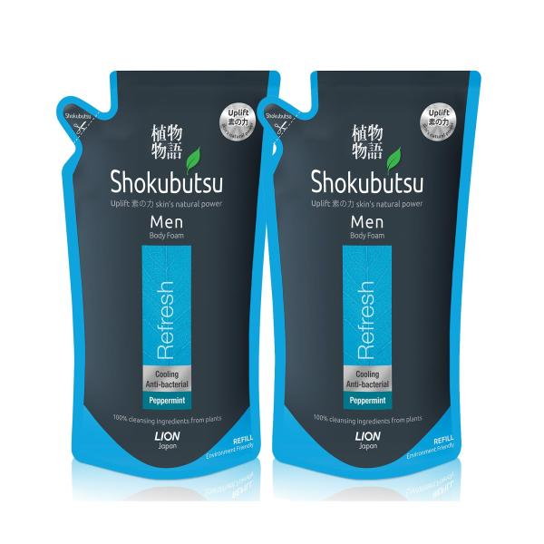 Buy Shokubutsu Men Body Foam - Refresh 600ml x 2 Singapore