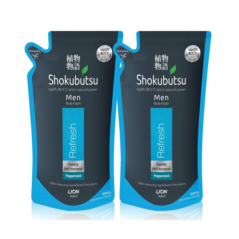 Buy Shokubutsu Men Body Foam - Refresh 600ml x 2 Singapore