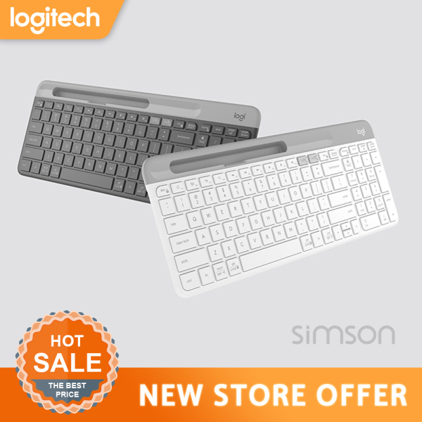 Logitech K580 Wireless Ultra-thin Keyboard Dual Mode 2.4G/Bluetooth Unifying Office Keyboard for Desktop PC Laptop Tablet Keypad Singapore