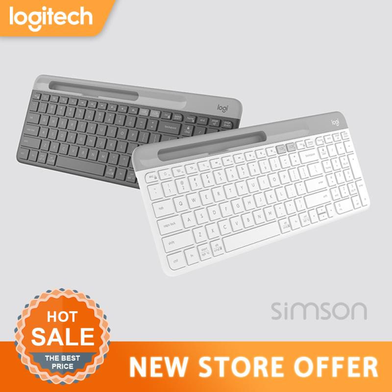 Logitech K580 Wireless Ultra-thin Keyboard Dual Mode 2.4G/Bluetooth Unifying Office Keyboard for Desktop PC Laptop Tablet Keypad Singapore