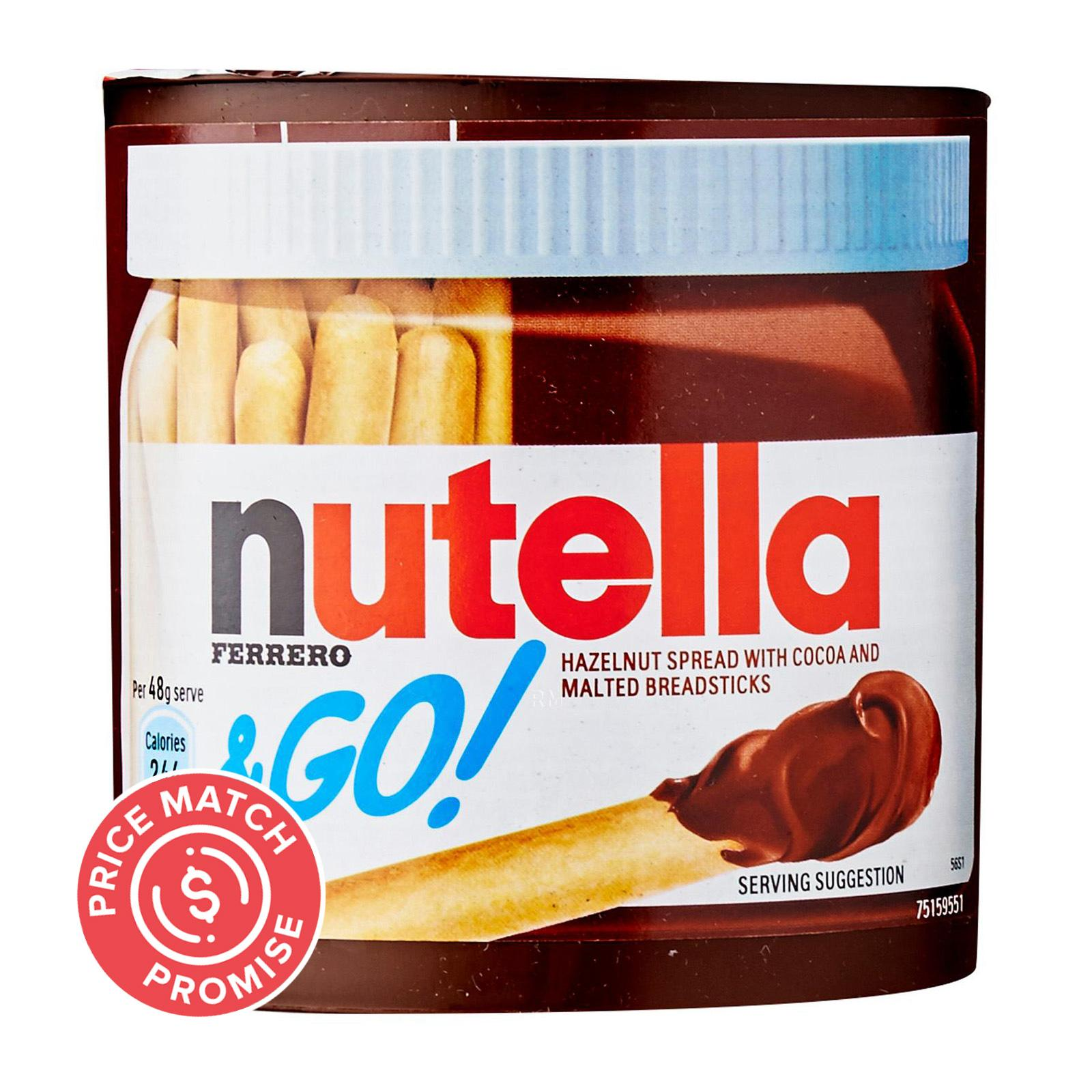 Nutella and Go Spread and Breadsticks