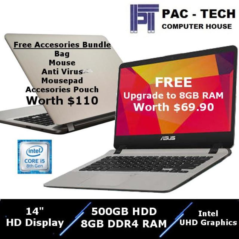 [BRAND NEW] Asus VivoBook A407U Intel I5-8250U -  8GB RAM - 500GB HDD - 14 Inch HD Display - 1 Year Warranty