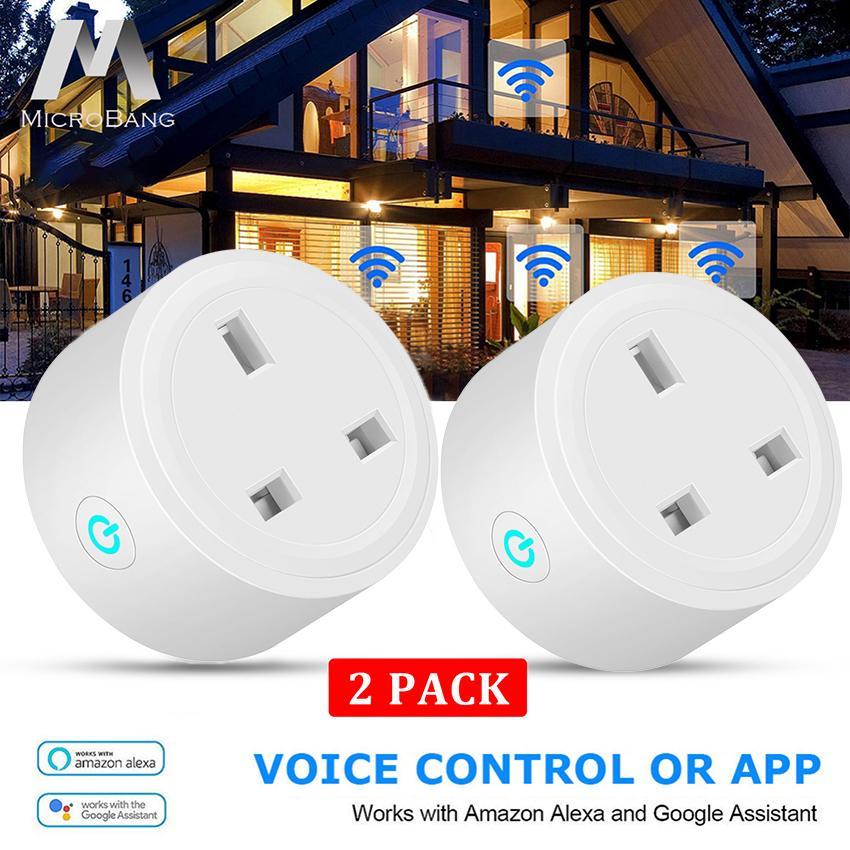 MicroBang Mini Smart WiFi Socket Wireless Plug Socket Outlet Remote Control Power Socket Smart Timer Plug for Smart Home