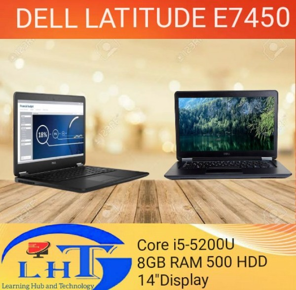 DELL Latitude E7450 Core i5-5200U 5th Generation / 8GB RAM / 500GB HDD / 14.0 display/  Webcam / Windows 10 (Refurbished)