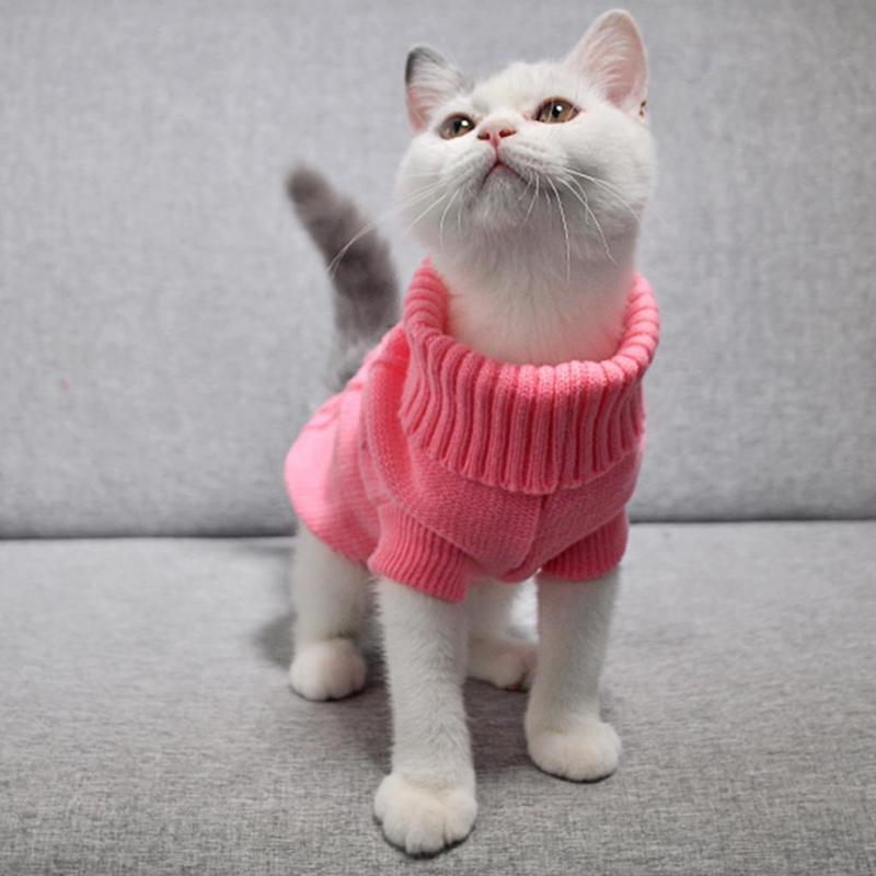 Miễn Phí Vận Chuyển Mùa Đông Quần Áo Cho Chó Con Mèo Cưng Áo Len Áo Khoác Lông Dành Cho Chó Nhỏ