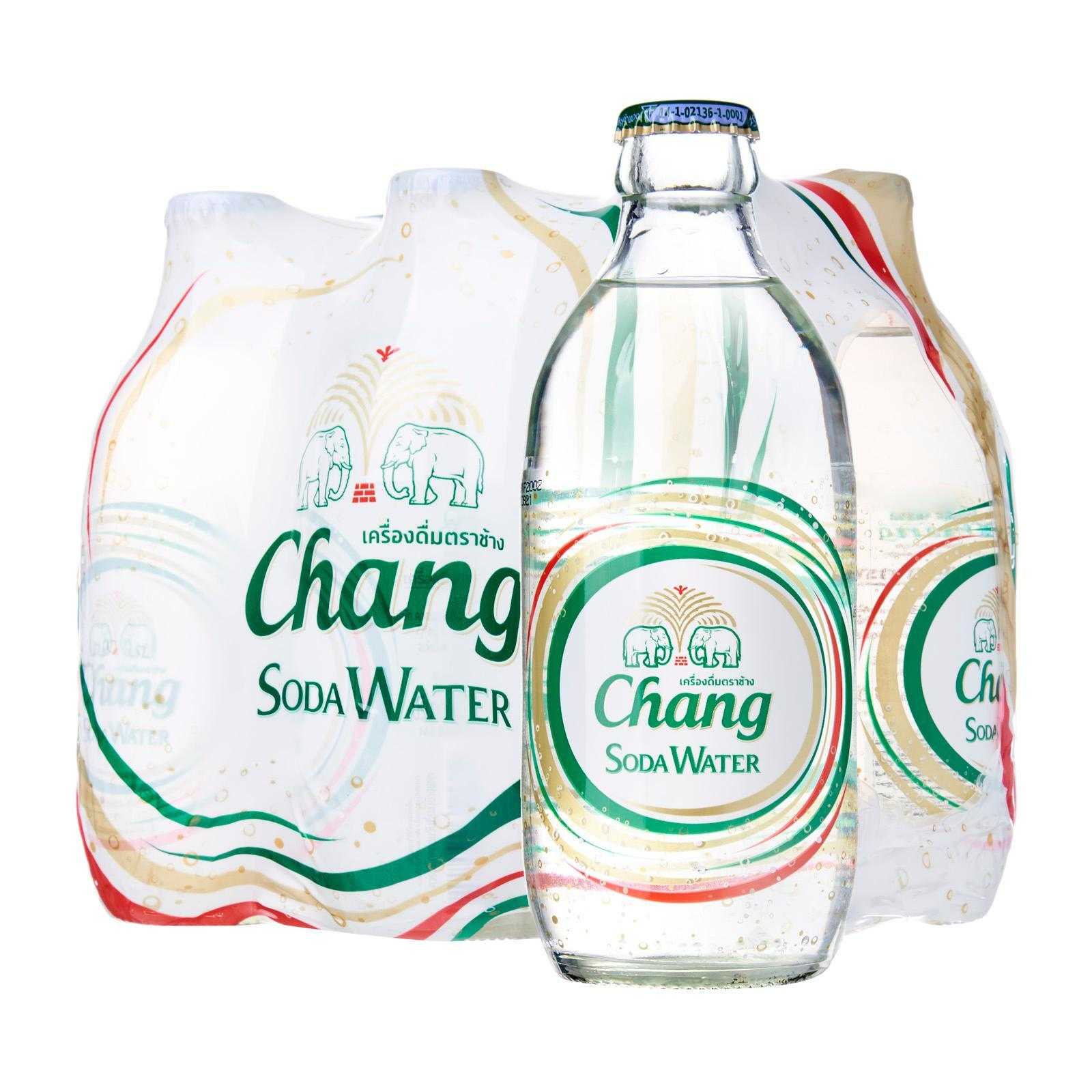 Chang Soda Water 325ml x 6 Glass Bottles