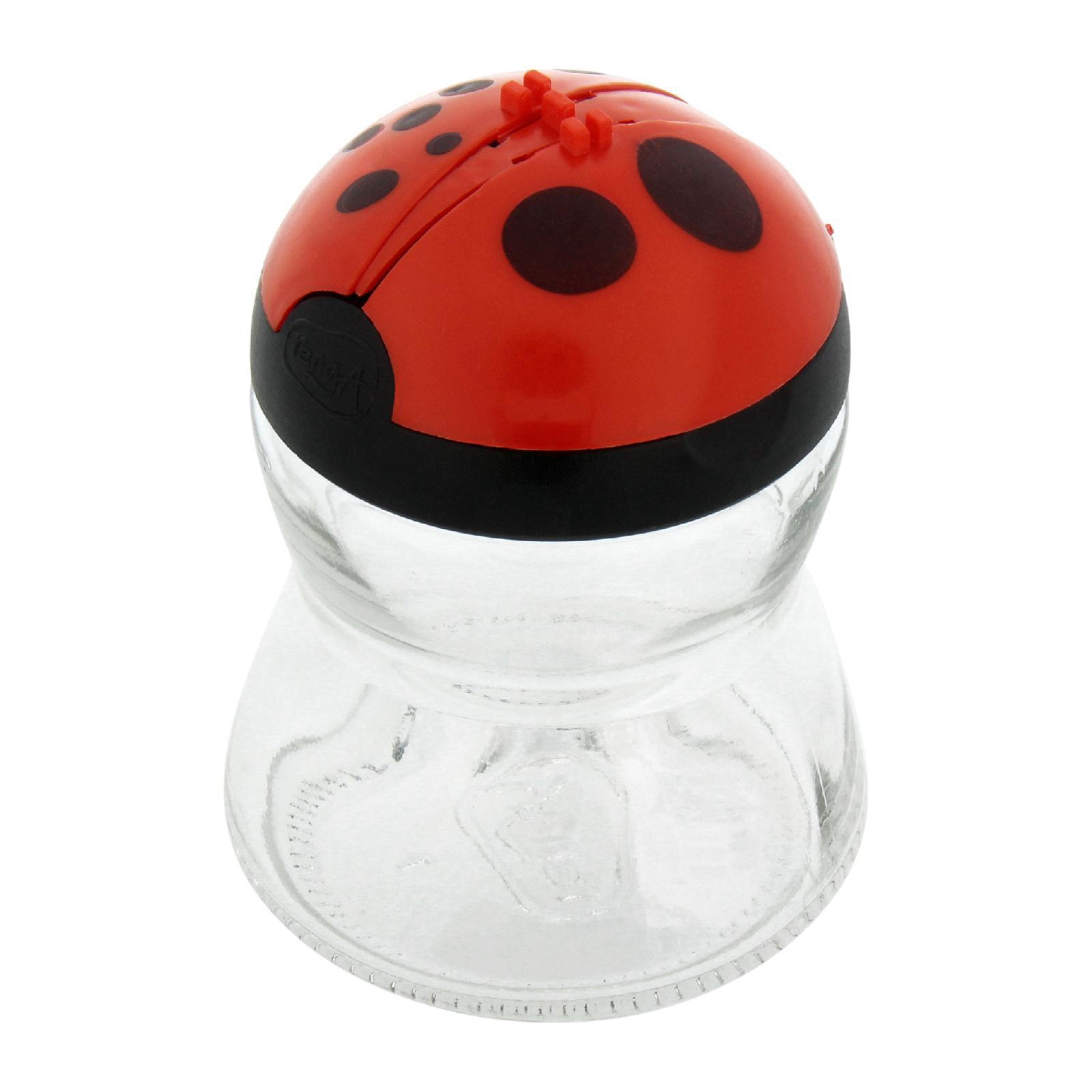 Renga Ladybug Glass Spice And Cheese Shaker Jar 200 ML (Red)