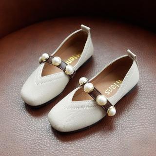 Bé Gái Giày Da 2020 Mẫu Mùa Xuân Mẫu Mới Mốt Thời Thượng Phiên Bản Hàn Quốc Bé Gái Đế Mềm Giày Tods Cô Gái Ngọc Trai Giày Thủy Triều thumbnail
