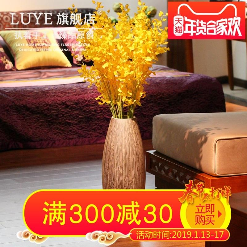 Jingdezhen Handmade Landing Decoration Big Vase Living Room Flower Arrangement Decoration Stoneware Chinese Style 58 Accessories Long Vase