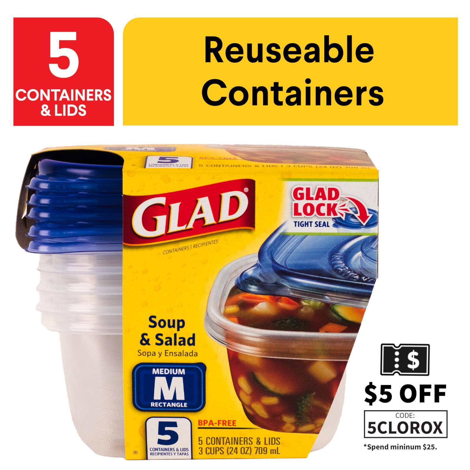 Glad Soup And Salad Containers And Lids