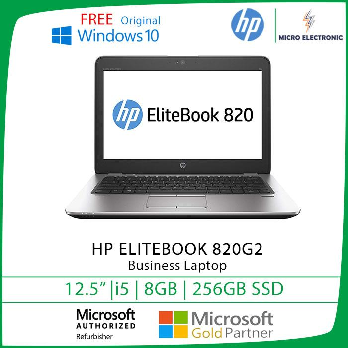 Hp Elitebook 820 G2 Business Laptop 12.5 HD Core i5-5th Gen 8GB RAM 256GB SSD Win10 Refurbished PC Computer Digital Electronics