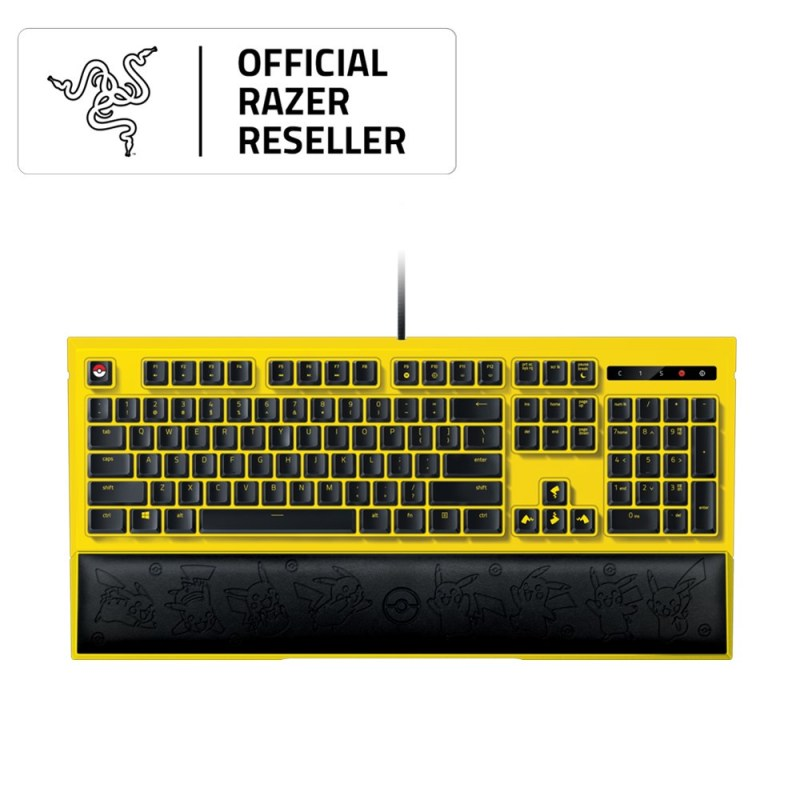 Razer | Pokémon - Razer Ornata Expert Pikachu Limited Edition - Backlit Keyboard Singapore