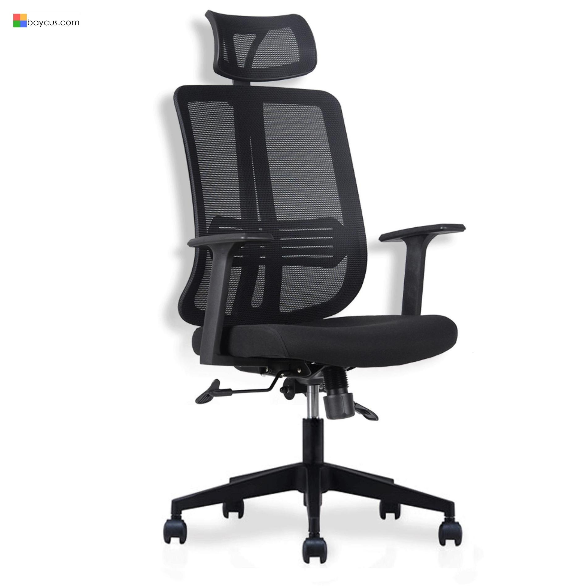 Ergonomic Mesh Office Chair  Model: JADE  Office Mesh Chair  Net Office Chair with Adjustable Headrest and Armrest  Office Chair able to tilt at multiple angle