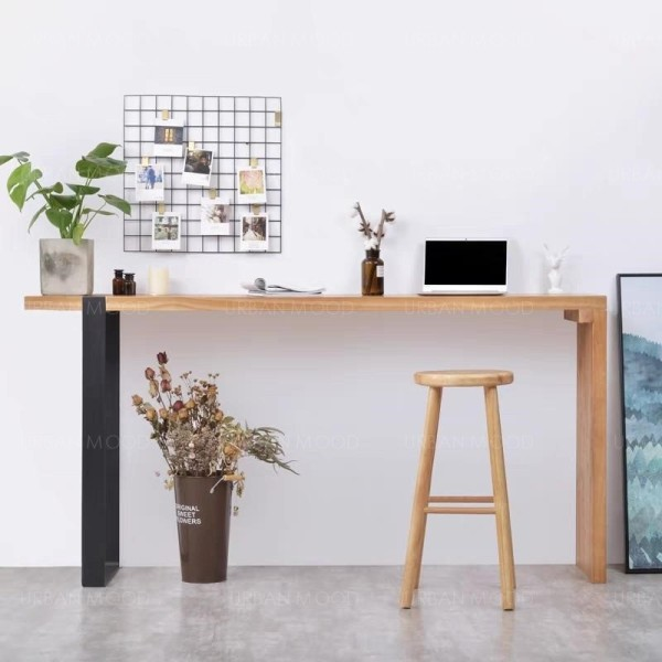 [Pre-Order] REMY Modern Industrial Solid Wood Tall Bar Table & Stool