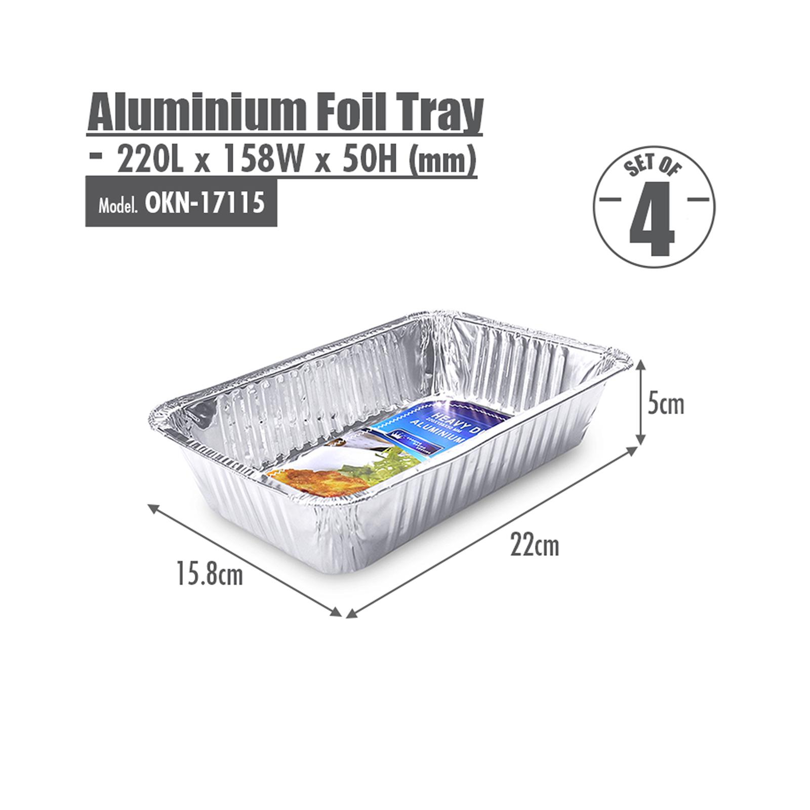 HOUZE Aluminium Foil Tray - Set of 4