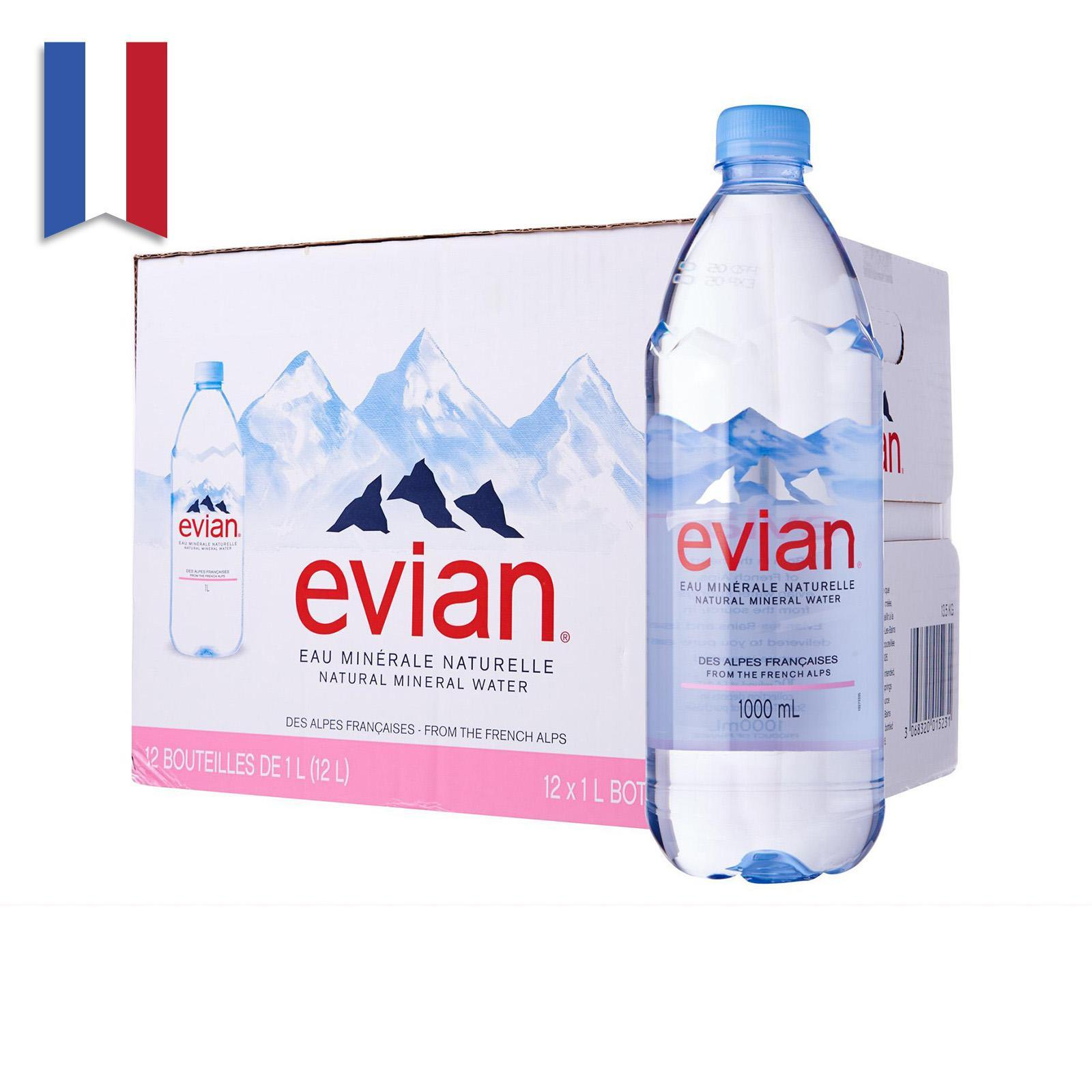 Evian Natural Mineral Water Case