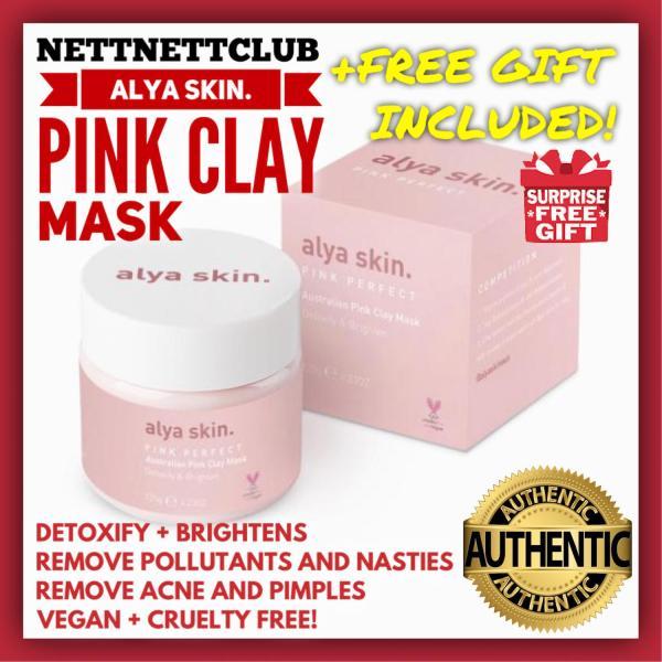 Buy Alya Skin Australian Pink Clay Mask / Detoxify / Tighten Pores / Removes Acne and Pimples / AlyaSkin Singapore