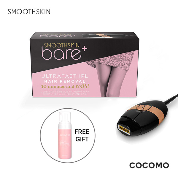 Buy (SmoothSkin) Bare Plus Black IPL Hair Removal System + Free Bonabella Secret Pure Cleanser 150ml - COCOMO Singapore