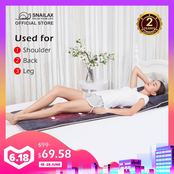 Buy [FREE SHIPPING]SL-363 Massage Mat with 10 Vibrating Motors and 4 Therapy Heating pad Full Body Massager Cushion for Relieving Back Lumbar Leg Pain Singapore