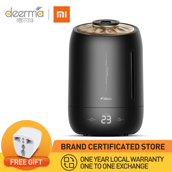 【1 Year Local Warranty】Xiaomi Deerma Dem-F600B Air Humidifier Ultrasonic 5L Quiet Aroma Mist Maker Led Touch Screen Timing Function Home Water Small Mini Diffuser Essential Oil Singapore