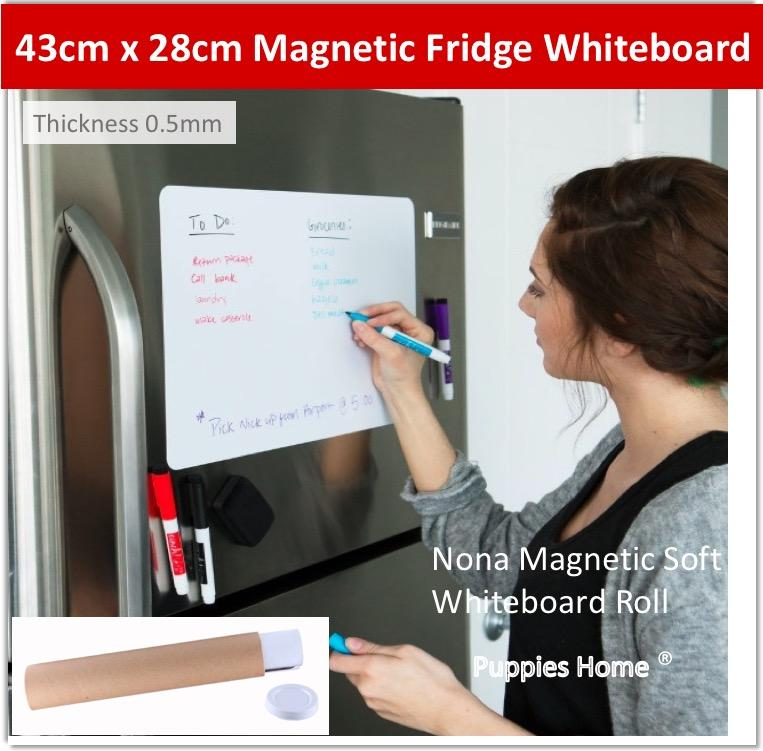 Magnetic Whiteboard Roll Sticker White Board Wall Kid Graffiti Scribble Drawing Child Play Erase Magnetism Marker Pen Black Soft Deco Blackboard Chalk New House Gift Present Office By Puppies Home.