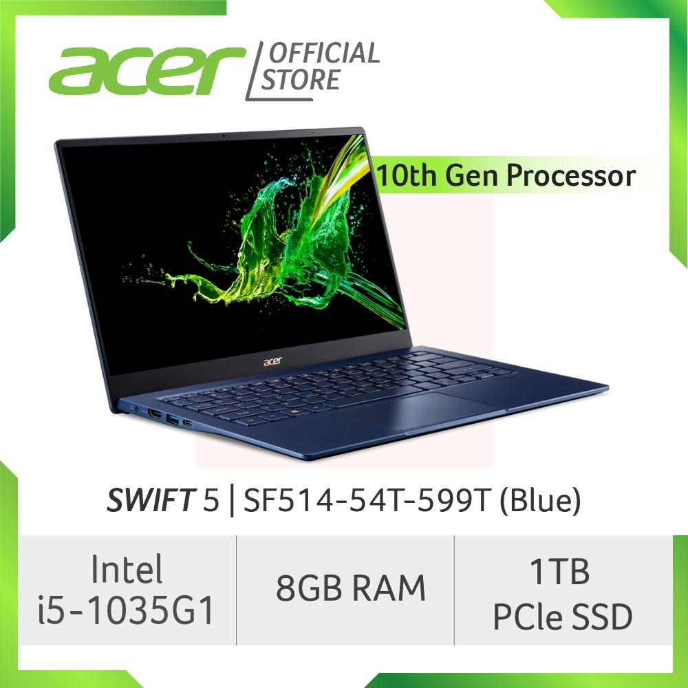 Acer Swift 5 SF514-54T-599T(Blue) NEW Thin and light laptop with LATEST 10 Gen Intel i5-1035G1
