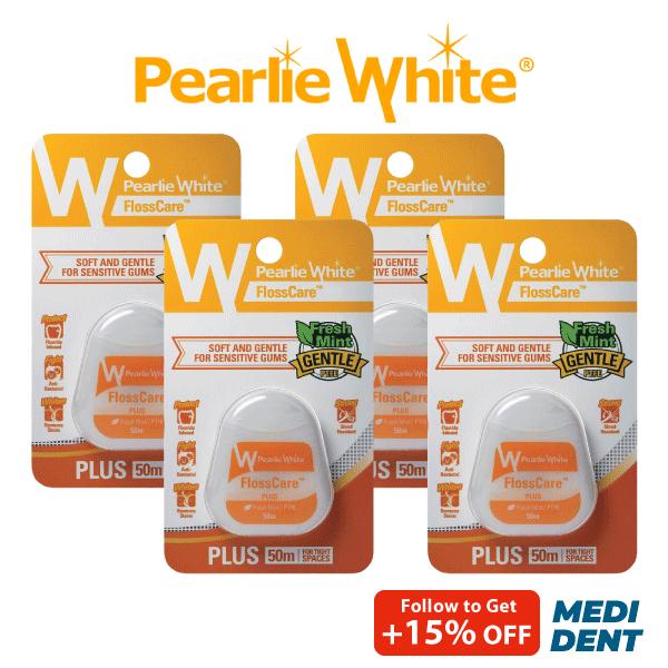 Buy PEARLIE WHITE FLOSSCARE PLUS FRESH MINT PTFE FLOSS 50M [BUNDLE OF 4] Singapore