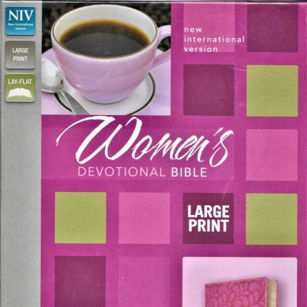 NIV Womens Devotional Bible in Largeprint, CHOCOLATE/BERRY Leathersoft:5110.