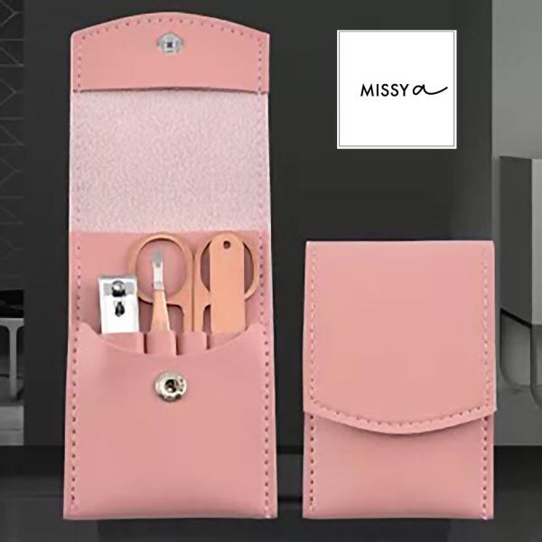 Buy 4 Piece Set (Pink Case) Stainless Steel Nail Kit Personal Hygiene Pedicure Manicure Set Scissor Tweezer Clipper Acne Tool Singapore
