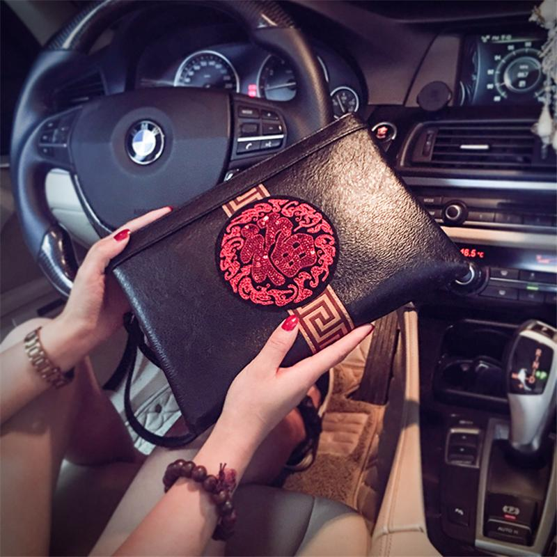 2019 New Style Chinese-style Cool Korean Style Clutch Fashion And Personality Clutch Bag Envelope Trend Womens Bag
