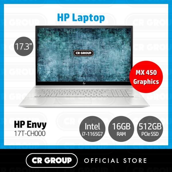 [Same Day Delivery] HP Envy i7 17.3 Full HD 2 in 1 Laptop Touchscreen 17T-CH000 | 11th Gen Intel® i7-1165G7 | 16GB DDR4 RAM | 512GB PCIe SSD | NIVIDIA GeForce MX450 (2 GB) | Windows 10 Plus